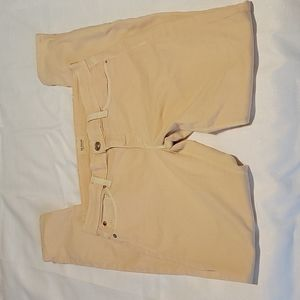 Hudson peach colored skinny jeans